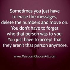 Sometimes you just have to erase the messages, delete the numbers and move on.