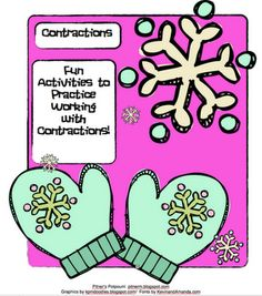 Pitner's Potpourri: Mitten Themed Contraction Activities   Can't wait to use this when we do our Jan Brett author study and read The Mitten!