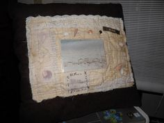 Seashell Pillow and Picture Frame by sherimusum on Etsy, $50.00
