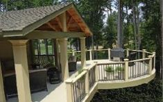 Image result for porch white columns exposed beams