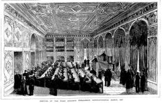 Ottoman Parliament 1877 - Meclis-i Mebusan - the first Constitutional Era covers the period between the years of 1876-1878, it was the first and the last parliament in which every millet in the Empire was represented.