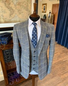 @whitfieldandward posted to Instagram: 2021 SUMMER WEDDING SUIT INSPIRATION - if you marry Spring Summer 2021 and would like a Whitfield & Ward suit you need to see us now. We are closing weekends each week as we have reached our full capacity. This blue and brown tweed suit is perfect for Spring Summer 2021 weddings. We'd love to help you and don't want you to miss out. Call us on 01625536545 ___________________________________________ #weddingsuit #menssuits #menstyleguide #groomstyle #gq