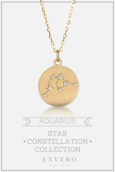 Aquarius Constellation Necklace – Envero Jewelry