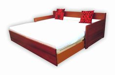 Rozkladacia posteľ z masívu, buk Bed, Furniture, Home Decor, Decoration Home, Stream Bed, Room Decor, Home Furnishings, Beds, Home Interior Design