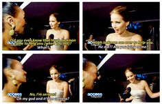Jennifer Lawrence about Hugh Jackman helping her at the Oscars 2013