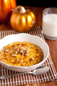 Pumpkin Pie Oatmeal with Caramel Sauce - Cooking Classy