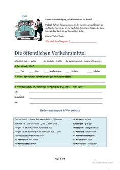 Image result for wegbeschreibung arbeitsblatt | education | Pinterest