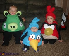 Homemade Angry Birds Costumes for Kids - 2012 Halloween Costume Contest Angry Birds Halloween Costume, Angry Birds Costumes, Bird Costume, Halloween Costume Contest, Creative Halloween Costumes, Cute Costumes, Family Costumes, Baby Costumes, Costume Ideas