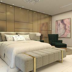 \\ Suíte Master! Quem não sonha em ter um recamier lindo desse no pé da cama? 💙 #marcelamarabuco #decoramarabuco #marabucodecor #projetomarcelamarabuco #mmarquitetura #padraomarabuco    #Regram via @BxtBAgMH9el Nice Place, Bed, Interior, Furniture, Home Decor, Style, Bed Frame Feet, Master Suite, Room Inspiration