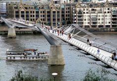 Millennium and Jubliee Pedestrian Bridges, London, England.