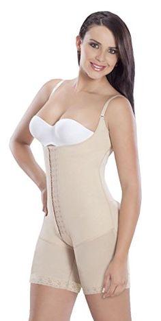 5ac669ffe1 MariaE Fajas After Tummy tuck garment High Compression Powernet Beige 9182  -- Read more