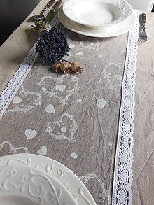 Úžitkový textil - Ľanová štóla Pure Nature I - 5152123_