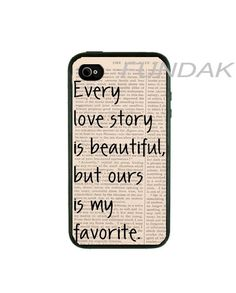 Iphone 4 Case - Our Story Iphone Case, iphone 4s case,iphone 4 cover, iphone 4s cover. $17.00, via Etsy.