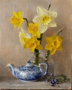 Instagram Number, Floral Paintings, Daffodils, Still Life, Art Work, Paint Colors, Feelings, Flowers, Artwork