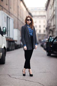 ELLE Russia's Renata Kharkova does Street Style.