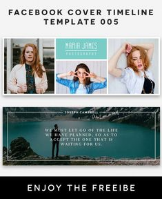 Free Facebook Cover Timeline Template 5 is fully editable and all layers are Organized in PSD Template. Easy to edit. Download Now! via @creativetacos Creative Facebook Cover, Joseph Campbell, Free Facebook, Psd Templates, Timeline, Layers, Polaroid Film, Easy, Photography