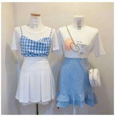 Vj collection #korea #couple #t-shirt #koreacouplet-shirt Couple Outfits, Girly Outfits, Cute Casual Outfits, Pretty Outfits, Kpop Fashion Outfits, Ulzzang Fashion, Korean Outfits, Kawaii Fashion, Cute Fashion