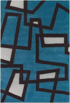 Bense - 3005 - Patterned Rectangular Contemporary Area Rug