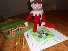 Minecraft Elf on a Shelf idea.