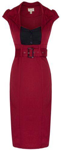 Lindy Bop Women's 'Wynona' Vintage 1950's Secretary Style Office Pencil Dress (S, Red) Lindy Bop,http://www.amazon.com/dp/B00I052CTY/ref=cm_sw_r_pi_dp_LlRBtb1KKWQQVY2N