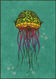 Colored Illustration by Claudia Viana, via Behance