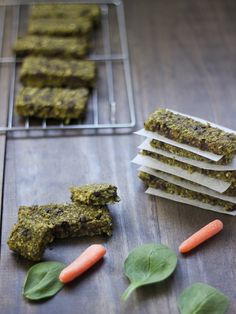 Green Monster Bars - Super healthy, gluten-free, no sugar added, and kids love them!