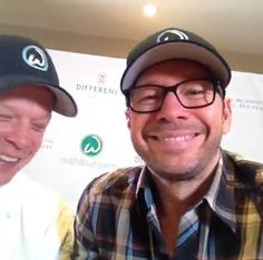 Doing interviews in Canada & my armpits are stinky.. Donnie & Chef Paul Wahlberg (Donnie's Vine Screencap)