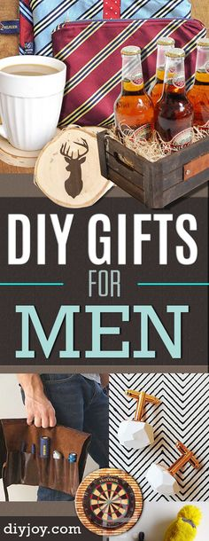 DIY Gifts for Men - Pinterest DYI Gift Ideas for Guys, Husband, Boyfriend, Dad, Brother Diy Gifts To Make, Diy Gifts For Men, Diy For Men, Homemade Gifts, Diy Christmas Presents, Christmas Gifts For Boyfriend, Boyfriend Gifts, Christmas Ideas, Morhers Day Gifts