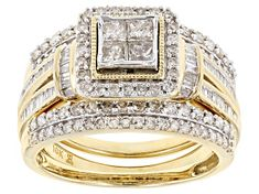 White Diamond 10k Yellow Gold Ring 2.00ctw - RGD022   JTV.com Champagne Diamond Rings, Diamond Rings For Sale, White Diamond Ring, Diamond Gemstone, Yellow Gold Rings, Diamond Earrings, Big Wedding Rings, Wedding Bands, Brilliant Diamond