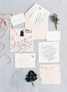Photography: http://josevilla.com | Floral design: http://poppiesandposiesevents.com | Wedding dress: http://sarahjanks.com/ | Invitations: http://jenhuangart.com | Read More: https://www.stylemepretty.com/2017/07/26/millennial-pink-wedding-ideas/