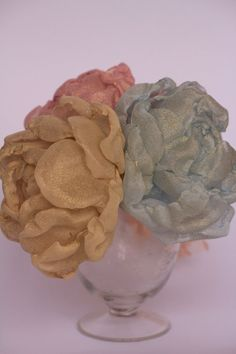 Fabric flowers bouquet sumptuous Handmade fabric by RoseinItaly, $100.00