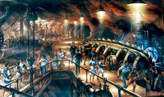 Journey To The Centre Of The Earth concept art by Tom Thordarson #disney #imagineering