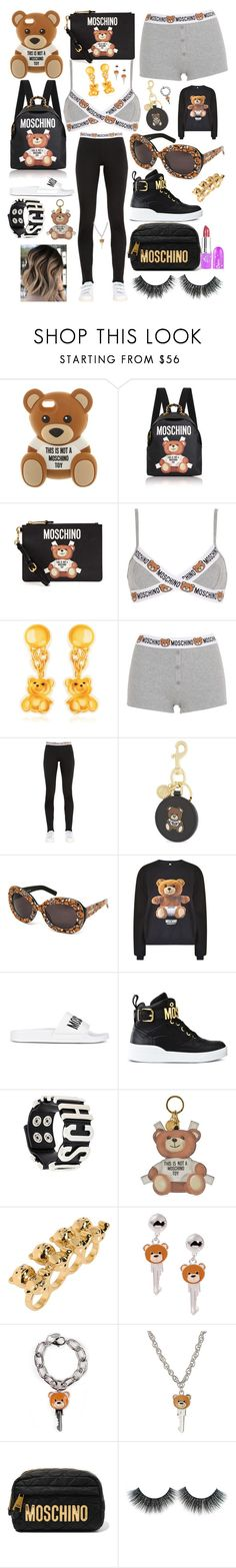 """Teddy Bears Picnic At Moschino 🐻"" by waterlily651 ❤ liked on Polyvore featuring Moschino"