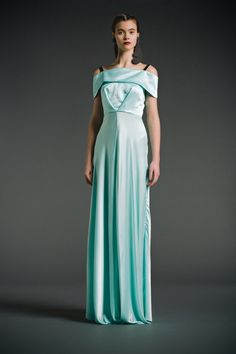 Minty Maxi dress from fall/winter 2014. 100% Silk. Nineties Vibes. Made in Canada.