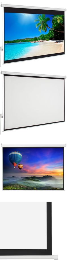 Projection Screens and Material: 100 Electric Motorized Projection Screen Hd Movie Projector White 4:3 + Remote -> BUY IT NOW ONLY: $51.39 on eBay!