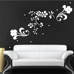 Floral Adornments Wall Decals & Wall Decor From Trendy Wall Designs