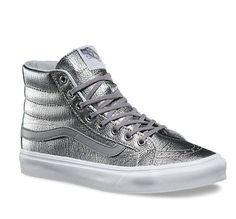 57d350f7c705 Vans Foil Metallic Slim mens skateboardingshoes silvertrue white    Visit  the image link more details.