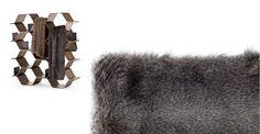 Larvik Faux Fur Throw, in Tonal Grey | made.com