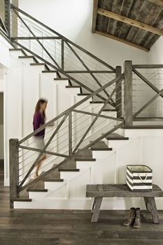 Stunning staircase! ciao! newport beach: a coastal california farmhouse