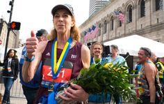 What Kathrine Switzer Said Immediately After Crossing Her Final Boston Marathon Finish Line Boston Marathon Finish Line, Role Models, Finals, Running, Sayings, Lady, Templates, Lyrics, Keep Running