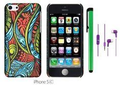 Amazon.com : Apple Iphone 5C (For the Colorful) Accessory - Premium Pretty Design Protector Hard Cover Case + 3.5MM Stereo Earphones + 1 of New Metal Stylus Touch Screen Pen (Pink Exotic Skins : Leopard & Zebra & Block) : Pencil Holders : Electronics