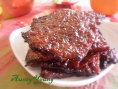 Aunty Young(安迪漾): 肉干 Homemade Chinese Pork Jerky (Bak Kwa)