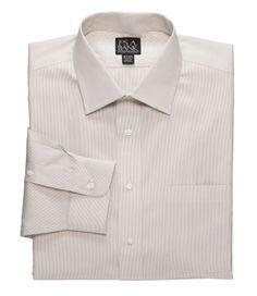 Traveler Tailored Fit Spread Collar Fineline Dress Shirt  $55