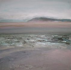 Brean Down from Steart - acrylic on canvas