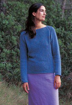 Free knitting pattern - Rosehip by Kim Hargreaves in Rowan Summer Tweed: http://www.mcadirect.com/shop/rowan-summer-tweed-silk-cotton-p-32.html