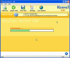 Main Screen of Kernel for DBF Recovery Software