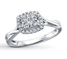 Kay - Diamond Engagement Ring 1/3 ct tw Round-cut 10K White Gold