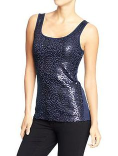 TOP - Womens Sequined Tanks - Size Small - Goodnight Nora - $20.  http://oldnavy.gap.com/browse/product.do?vid=1&pid=649400272