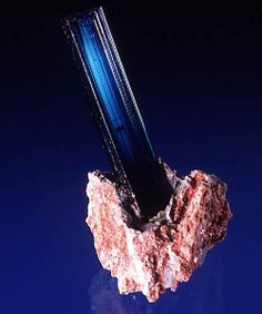 Indicolite (blue Tourmaline) on matrix