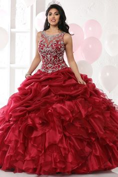 365a85783b7 Exquisite Tulle   Organza Jewel Neckline Ball Gown Quinceanera Dress With  Beaded Embroidery